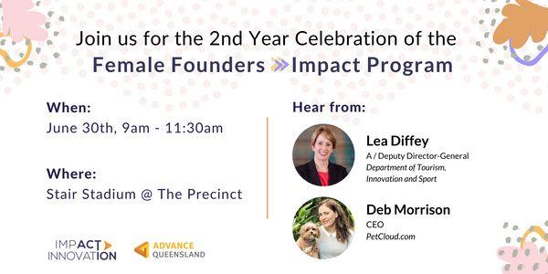 Female Founders Impact Program - Second Year Celebration Event image
