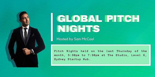 Global Pitch Nights, Running between May and November 2021 | Humanitix image