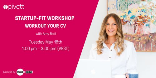 Pivott Workshop - Workout your CV to get Startup Fit image