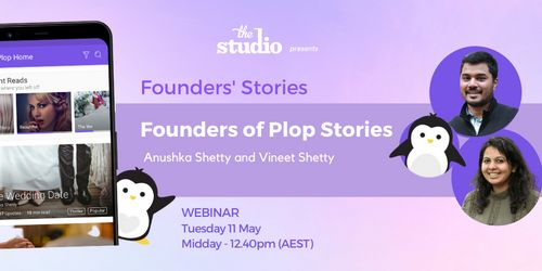 Anushka Shetty and Vineet Shetty, Founders of Plop Stories, Hosted online, 11th of May | Humanitix image