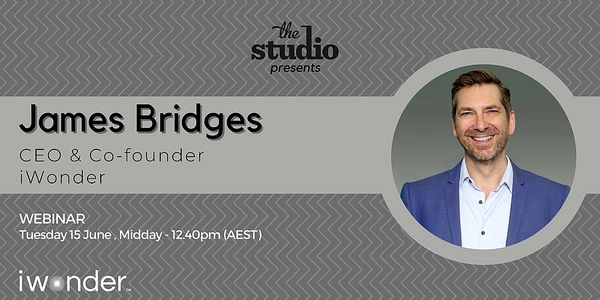Founders' Stories: James Bridges, CEO & Co-founder of iWonder, Hosted online, 15th of June | Humanitix image