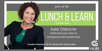 LUNCH AND LEARN with Kate Osborne image