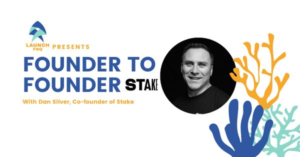Welcome! You are invited to join a meeting: Founder 2 Founder - Dan Silver (Stake). After registering, you will receive a confirmation email about joining the meeting. image